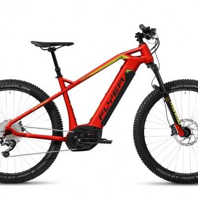 FLYER_E–Bikes_Uproc1_Hardtail_ibisrot_gekogruen