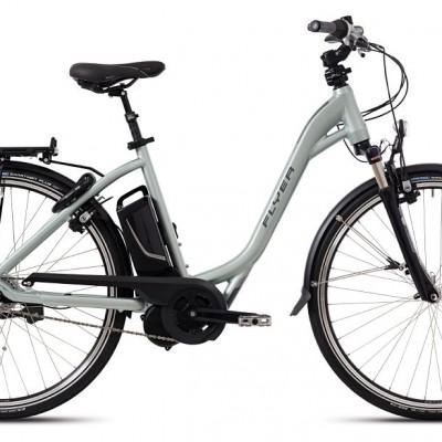 FLYER_E–Bikes_T–Serie_Tiefeinsteigerrahmen_jadegrün
